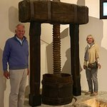Old wine press on way to restaurant
