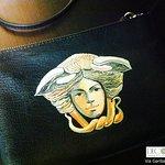 Borsa donna Decortack con medusa dipinta a mano su ecopelle. Arte. artigianato MadeinSicily