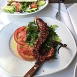 The Grilled Octopus with Greek Salad