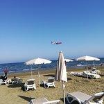 International airport Lanaka lies so near with the beach.