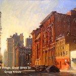 """West Village, Great Jones St."" by Gregg Kreutz, oil, 16 x 20"""
