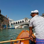 Rowing in the Grand Canal.
