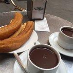 churros and porros and hot chocolate