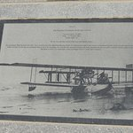 Informational plaque dedicated to WW1 naval aircraft.