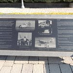 Informational plaque of different eras of naval aviation.