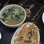 Mixed Pad Thai Noodles and Chicken Thukpa..