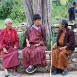 Local Women o the street in Bhutan