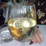 Branded wine glass