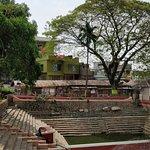 Sacred pond inside complex