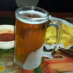 24 oz Beer with Complimentary Chips & Salsa