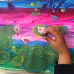 Private lessons for preschoolers. Mixed media Monet paintings!