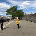 walking on the city walls