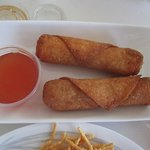 Egg Roll with dipping sauce