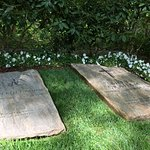Gravestones of Ruth Bell Graham and Billy Graham.