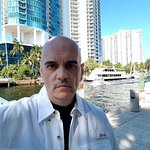 Bill Lewis of Cooper City visiting the Downtowner in Fort Lauderdale, Florida.