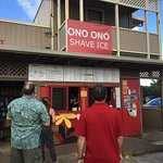 Waiting to order at Ono Ono Shave Ice