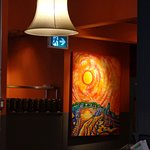 Art throughout this one-of-a-kind Canadian restaurant...don't be boring..enjoy the food and art