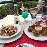 Conch Fritters and Chili & Garlic Calamari Tapas