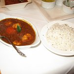 Cochin prawns with coconut rice