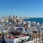 Vista parcial de Cádiz, desde Torre Tavira.
