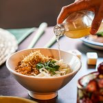 Our signature cold dip Tom Yum noodles