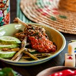 Our take on the french classic Duck Confit and the local spicy sambal duck