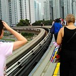 Walking on the track is everyday experience taking the MRT. Be prepare as it can be at night or