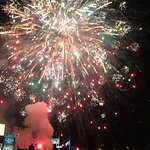 Cinco de Mayo Fireworks over  Frawley Stadium