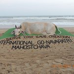 Sand Art on Puri Beach