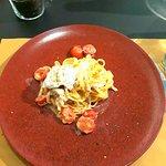 Pasta pomodorini,burrata e granella di pistacchio! Buonissima :)