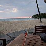 Hau tree restaurant at sunset