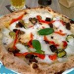 Pizza ortolana al ristorante Olì 360