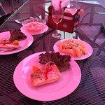 The fish (Zander) was a nice piece of meat but it hasn't seen salt or pepper. The dessert (přesň