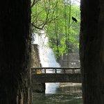 Man made waterfalls Inside the rock garden