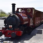 No. 1 'Talyllyn' waits at the Wharf station (Tywyn) at the head of the 14:00 service to Nant Gwe