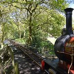 Dolgoch awaits departure from Dolgoch with the 14:00 Tywyn Wharf to Nant Gwernol