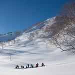 Ski Touring in Hakuba, Japan.  January 2016.  Photo: Alain Sleigher