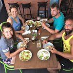 Healthy lunch after morning surf :)
