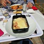 Lasagnes en terrasse au soleil