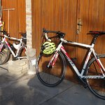 Two of the bikes at a B&B