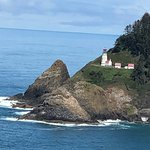 Heceta Lighthouse from the Sea Lion Caves