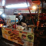 Front View of Roti Stall