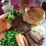 Roast beef and a pint! Delicious.