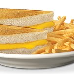 kids grilled cheese plate