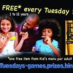 kids eat free on Tuesdays!