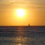 Sunset em Eagle Beach