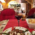 Wine and aubergine puree with beef