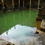 Bath World Heritage Site, you can see the water bubbling