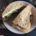 roasted turkey and cheddar sandwich