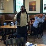 Singing lunch-time busboy - sings gospel and patriotic